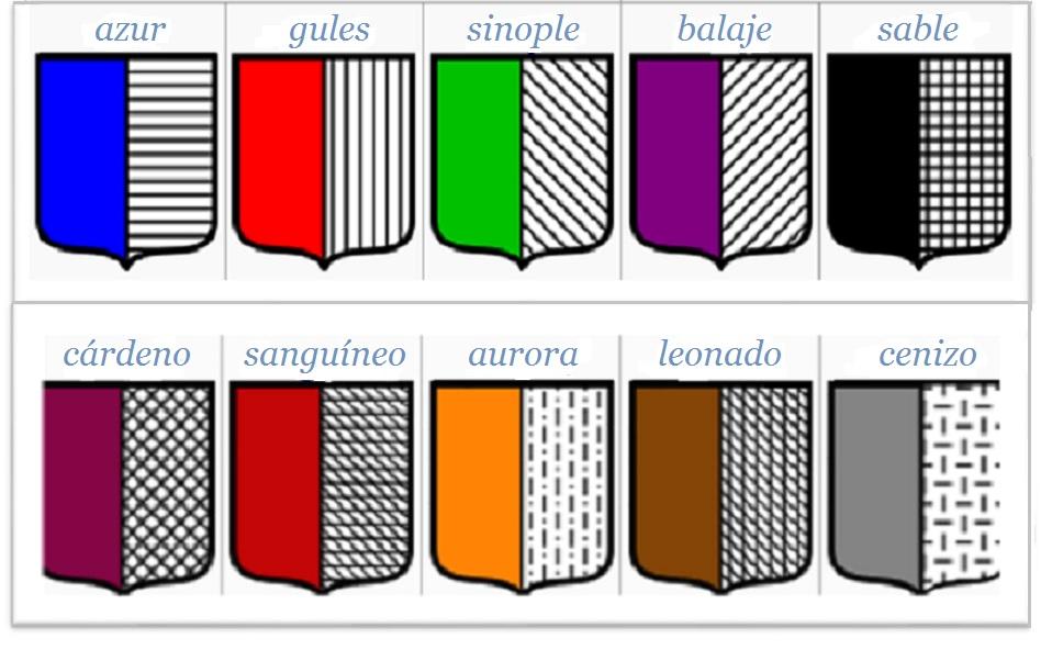 colores heráldicos